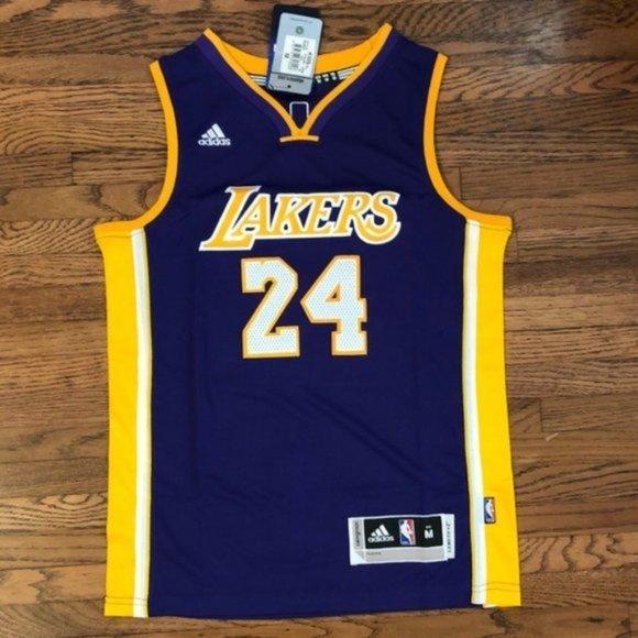 NBA Shirts & Tops | Kobe Bryant 24 Purple Lakers Youth Kids Jersey ...